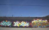 Graffiti wall at East Williamsburg neighborhood in Brooklyn — Zdjęcie stockowe