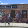 Mural in Williamsburg section in Brooklyn — Stock Photo #46425187
