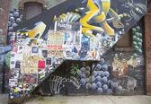 Mural at East Williamsburg neighborhood in Brooklyn — Stock Photo