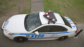 NYPD car providing security in Manhattan — Stock Photo