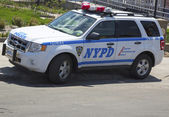 NYPD car providing security at Coney Island section of Brooklyn — Stock Photo