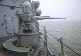 MK-38 25mm chain gun aboard the guided-missile destroyer USS Cole during Fleet Week 2014 — Stock fotografie