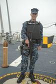 Unidentified navy providing security during Fleet Week 2014 — Stock Photo