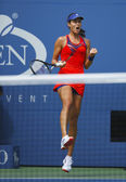Grand Slam champion Ana Ivanovich during fourth round match at US Open 2013 against Victoria Azarenka — Stock Photo