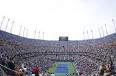 Arthur Ashe Stadium at the Billie Jean King National Tennis Center during US Open 2013 tournament — Стоковое фото