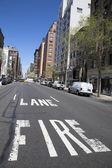 Fire lane at Madison Avenue in Manhattan — Stock Photo