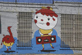 Mural at East Williamsburg in Brooklyn — Stock Photo