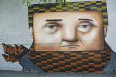 壁画在东在布鲁克林的威廉斯堡 — 图库照片