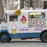 Ice cream truck in midtown Manhattan — Stock Photo #47446555