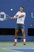 Twelve times Grand Slam champion Rafael Nadal during his semifinal match at US Open 2013 — Stock Photo