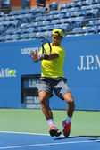 Twelve times Grand Slam champion Rafael Nadal practices for US Open 2013 at Arthur Ashe Stadium — ストック写真
