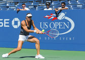 Professional tennis player Andrea Petkovic from Germany practices for US Open 2013 — Stok fotoğraf