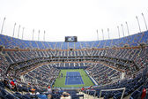 Arthur Ashe Stadium during US Open 2013 third round doubles match at Billie Jean King National Tennis Center — 图库照片