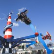Air race at Coney Island Luna Park — Stock Photo