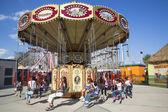 Lynn's Trapeze swing carousel in Coney Island Luna Park — Stock Photo