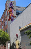 Murals at East Williamsburg in Brooklyn — Stock Photo