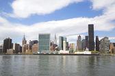 Midtown Manhattan skyline panorama — Stock Photo