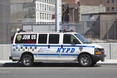NYPD recruit car in midtown Manhattan — Stock fotografie