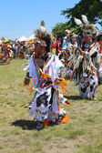 Unidentified Native American dancers at the NYC Pow Wow in Brooklyn — Stock Photo