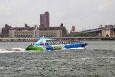 Shark Speedboat in New York Harbor — Stock Photo