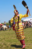 Unidentified Native American dancer at the NYC Pow Wow — Photo