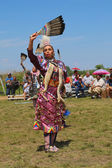 Unidentified Native American dancer at the NYC Pow Wow — Stock Photo