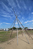 Frame of Wigwam installed at the NYC Pow Wow in Brooklyn — Stock Photo
