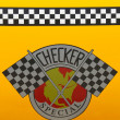 Checker Taxi Cab produced by the Checker Motors Corporation — Stock Photo #48749567