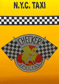 Checker Taxi Cab produced by the Checker Motors Corporation — Stock Photo
