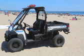 NYPD vehicle at Coney Island beach in Brooklyn — Stock Photo