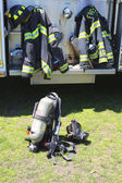 Fire fighter gear — Stock Photo