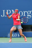 Grand Slam champion Petra Kvitova during first round match at US Open 2013 — Stock Photo
