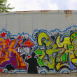 Постер, плакат: Graffiti in Red Hook section of Brooklyn