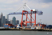 Red Hook Container Terminal in Brooklyn — Stock Photo
