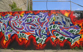 Graffiti in Red Hook section of Brooklyn — Stock Photo