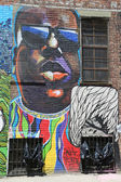 Mural at East Williamsburg in Brooklyn — Stock Photo