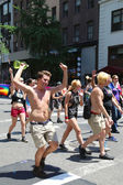 LGBT Pride Parade participants in New York City — Stock Photo