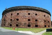 Historiska slott williams på governors island i new york hamnen — Stockfoto