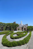 Liggett Hall on Governors Island in New York Harbor — Stock Photo