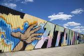 Mural in Williamsburg section in Brooklyn — Stock fotografie