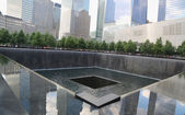 Waterfall in September 11 Memorial Park — Stock Photo