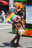 LGBT Pride Parade participant in New York City — Stock Photo