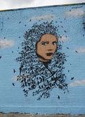 Mural in Astoria section in Queens — Stock Photo