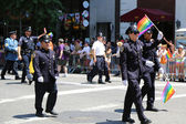 FDNY members at LGBT Pride Parade in New York City — Stock Photo