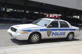 Port Authority New York New Jersey car providing security at JFK International Airport — Stock Photo