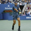 Постер, плакат: US Open 2013 champion Rafael Nadal during final match against Novak Djokovic at Billie Jean King National Tennis Center