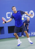 Philipp Kohlschreiber during  fourth round match at US Open 2013 against twelve times Grand Slam champion Rafael Nadal — Stock Photo