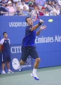 Philipp Kohlschreiber during  fourth round match at US Open 2013 against twelve times Grand Slam champion Rafael Nadal — Stock Photo