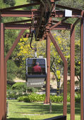 Aerial tram at the Sterling Vineyards in Napa Valley — Stock Photo