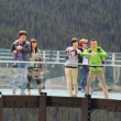 Tourists at the Glacier Skywalk in Jasper National Park — Stock Photo #51011629